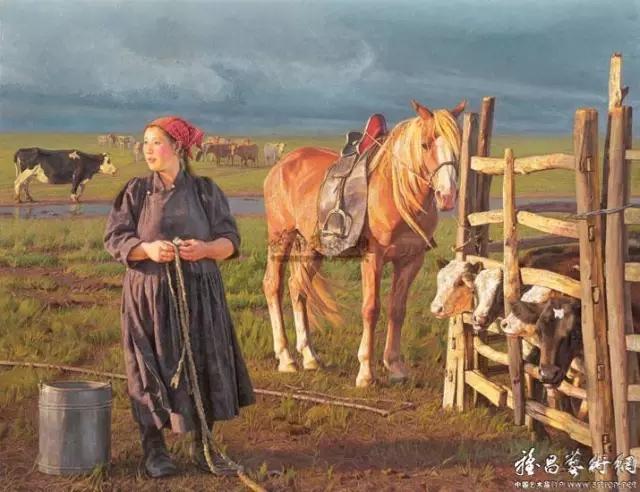 湖南画家笔下的蒙古生活,很生动,勾起一代人的回忆 第2张
