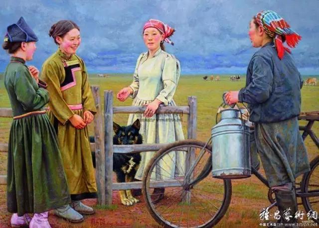 湖南画家笔下的蒙古生活,很生动,勾起一代人的回忆 第5张