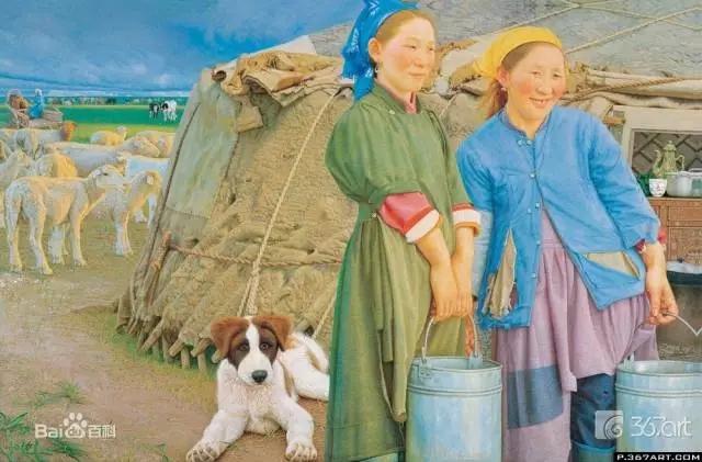 湖南画家笔下的蒙古生活,很生动,勾起一代人的回忆 第9张