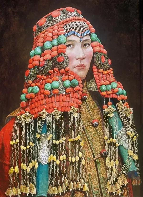 蒙古族画家敖恩油画作品欣赏 第3张