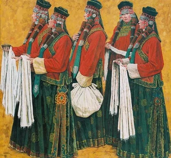 蒙古族画家敖恩油画作品欣赏 第7张