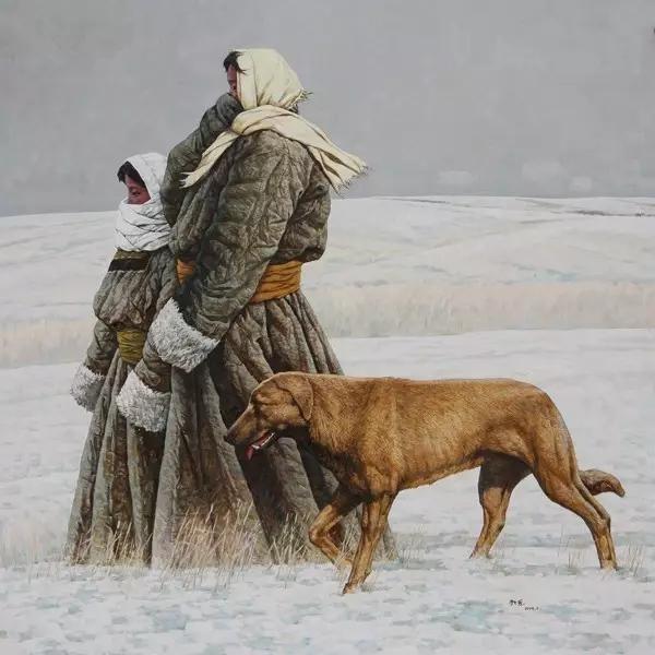 蒙古族画家敖恩油画作品欣赏 第4张