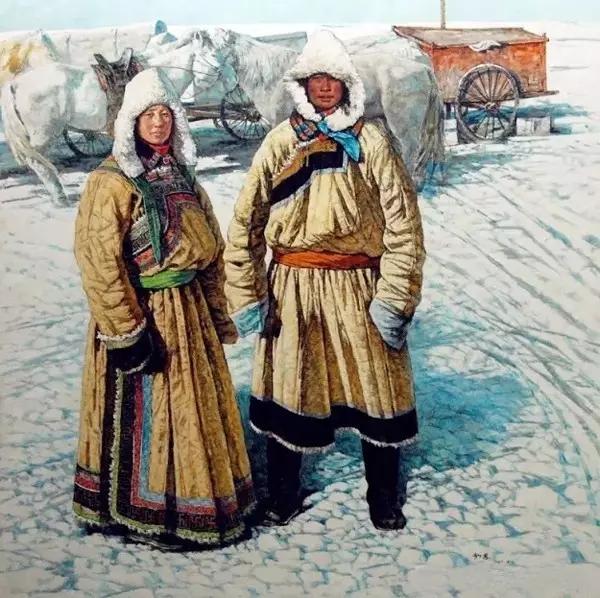 蒙古族画家敖恩油画作品欣赏 第5张