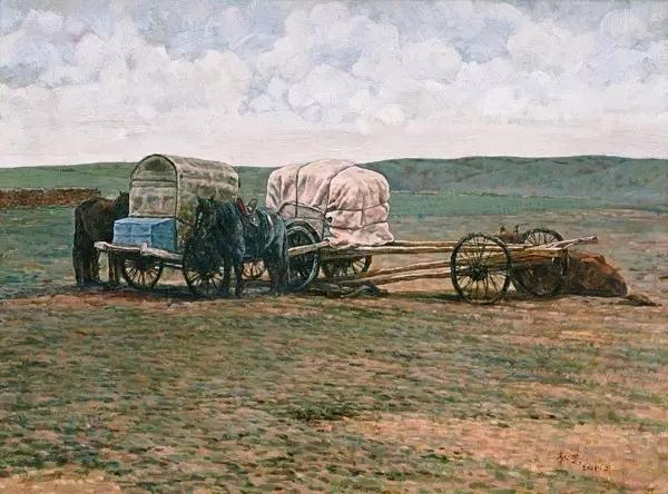蒙古族画家敖恩油画作品欣赏 第2张