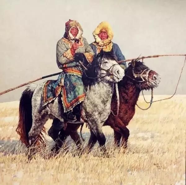 蒙古族画家敖恩油画作品欣赏 第13张