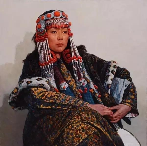 蒙古族画家敖恩油画作品欣赏 第14张