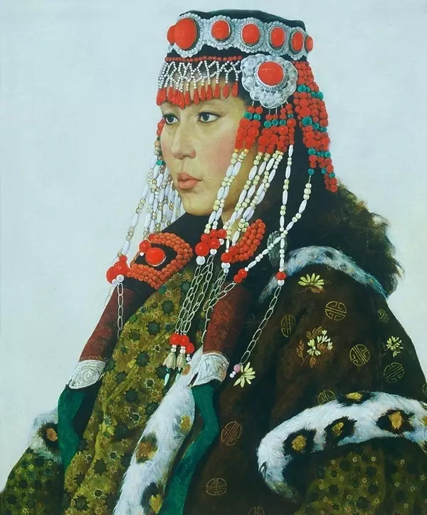 蒙古族画家敖恩油画作品欣赏 第11张