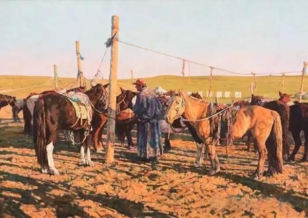 蒙古族画家敖恩油画作品欣赏 第12张