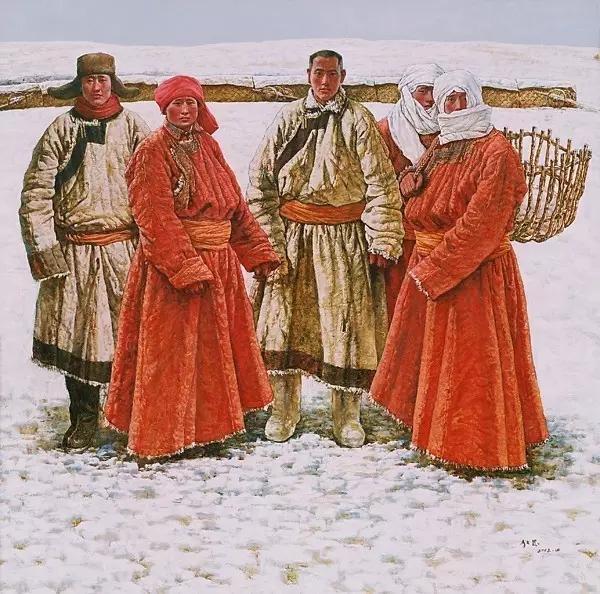 蒙古族画家敖恩油画作品欣赏 第10张