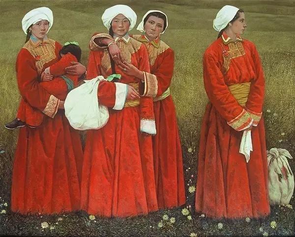 蒙古族画家敖恩油画作品欣赏 第9张