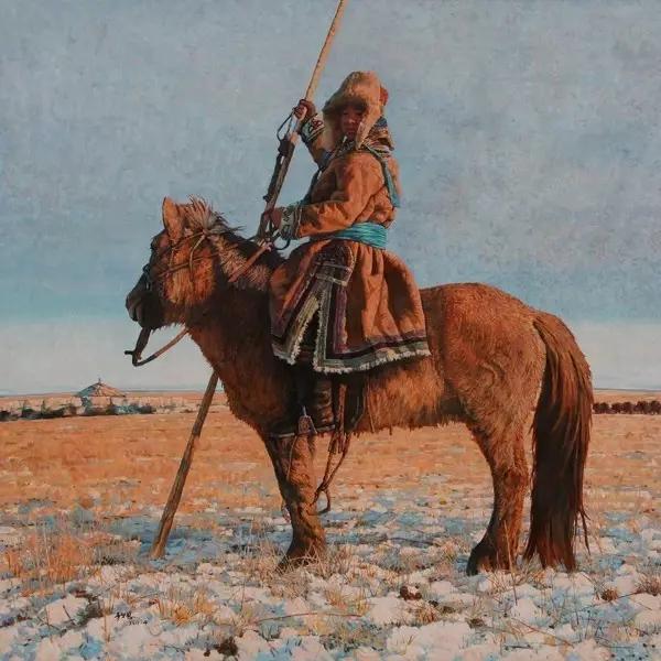 蒙古族画家敖恩油画作品欣赏 第8张
