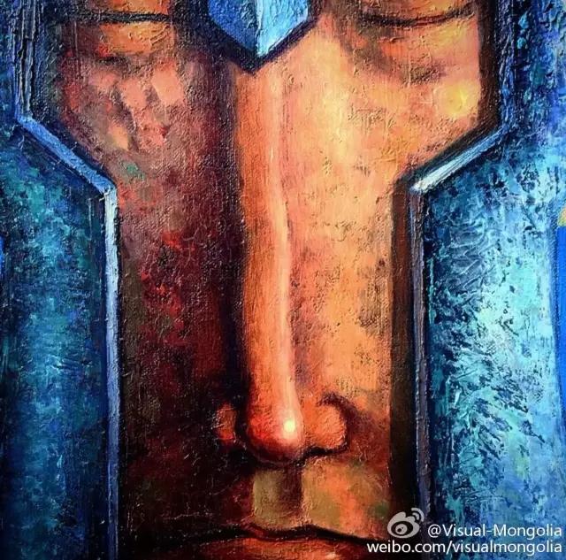 蒙古画家笔下蒙古传统符号与现代元素的化学反应 第7张