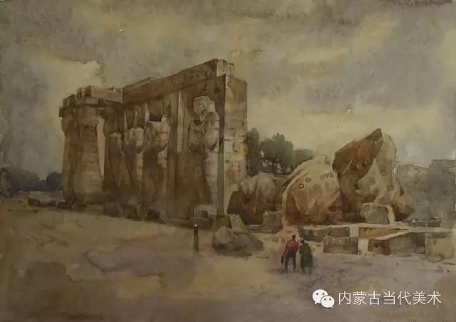 蒙古族画家——那顺孟和境外水彩写生作品 第3张
