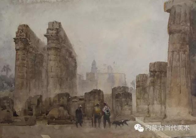 蒙古族画家——那顺孟和境外水彩写生作品 第4张