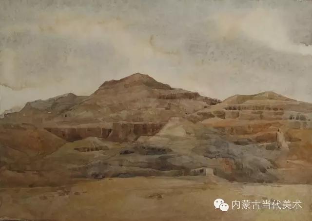 蒙古族画家——那顺孟和境外水彩写生作品 第11张