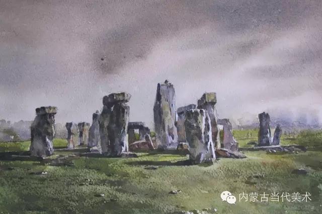 蒙古族画家——那顺孟和境外水彩写生作品 第23张
