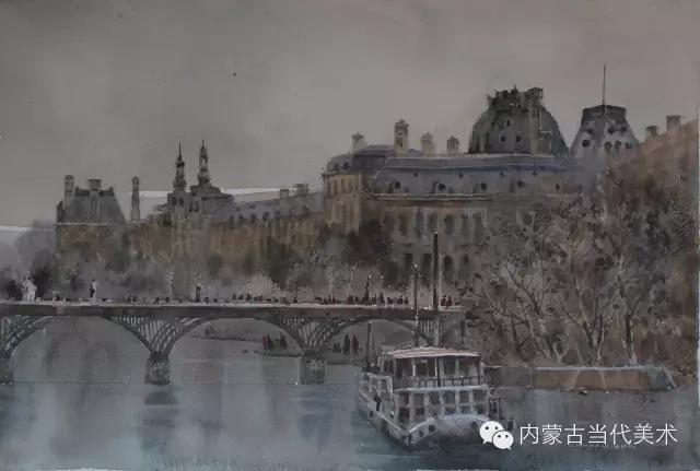 蒙古族画家——那顺孟和境外水彩写生作品 第17张