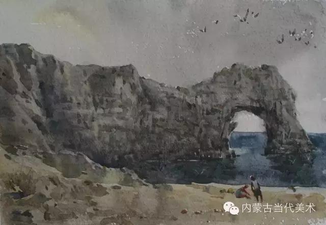 蒙古族画家——那顺孟和境外水彩写生作品 第22张
