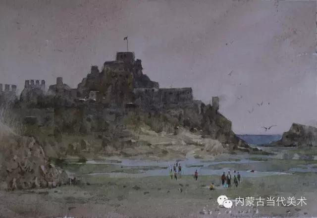 蒙古族画家——那顺孟和境外水彩写生作品 第21张