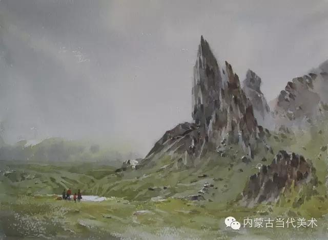 蒙古族画家——那顺孟和境外水彩写生作品 第20张