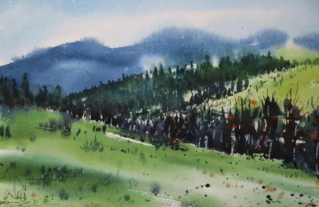 蒙古族水彩画家齐达拉图——绘画是一种信仰 第7张