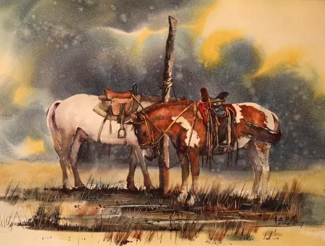 蒙古族水彩画家齐达拉图——绘画是一种信仰 第12张