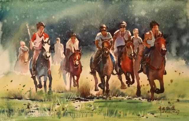 蒙古族水彩画家齐达拉图——绘画是一种信仰 第10张