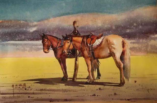 蒙古族水彩画家齐达拉图——绘画是一种信仰 第13张