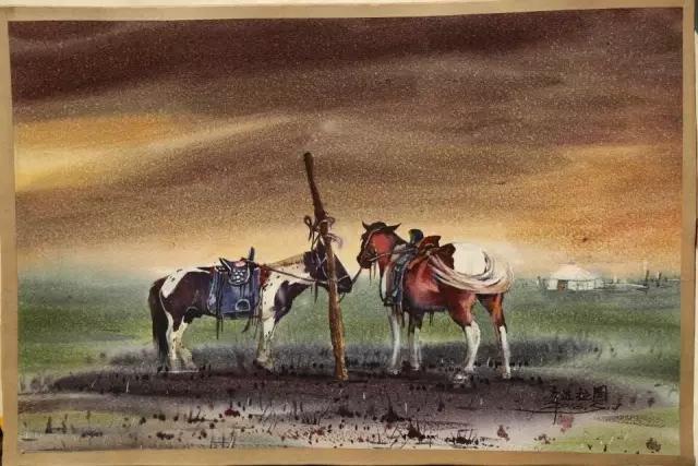 蒙古族水彩画家齐达拉图——绘画是一种信仰 第17张
