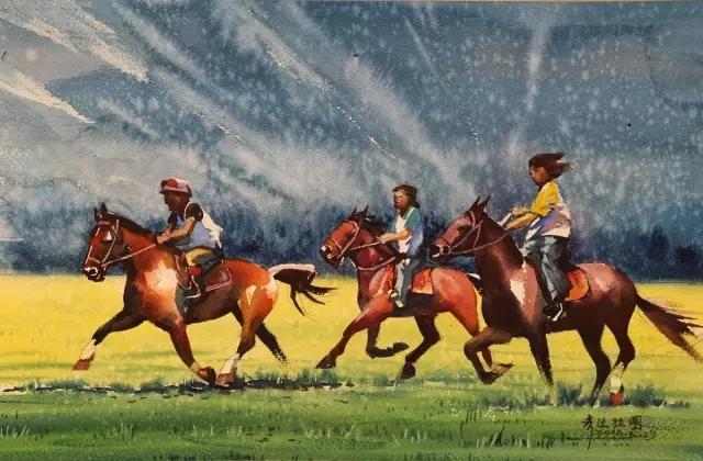 蒙古族水彩画家齐达拉图——绘画是一种信仰 第14张