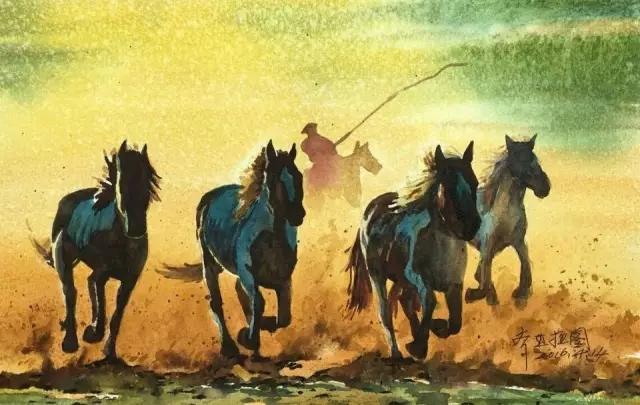 蒙古族水彩画家齐达拉图——绘画是一种信仰 第16张