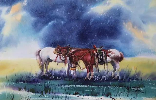 蒙古族水彩画家齐达拉图——绘画是一种信仰 第22张