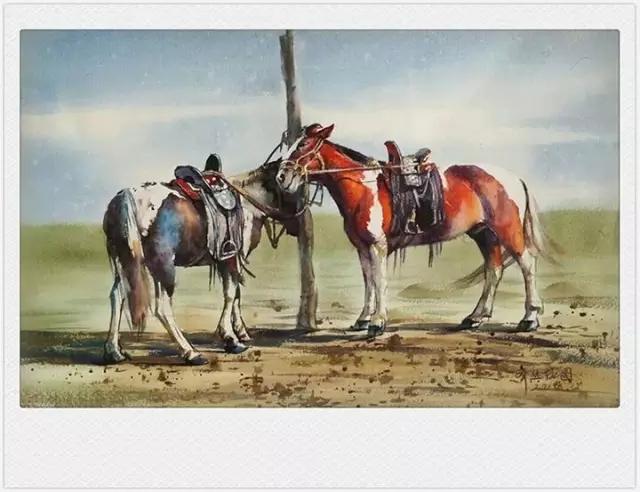 蒙古族水彩画家齐达拉图——绘画是一种信仰 第24张