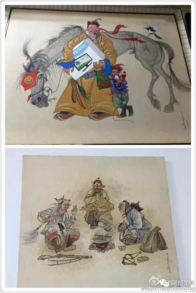 蒙古画家都仁图古斯作品欣赏 第1张