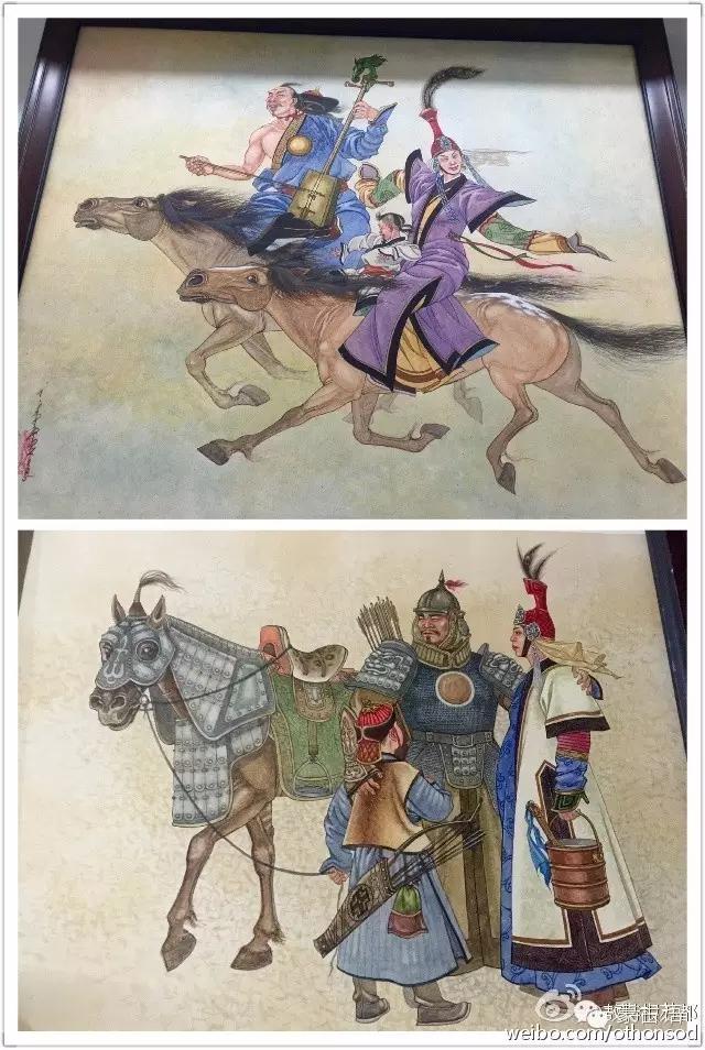 蒙古画家都仁图古斯作品欣赏 第5张