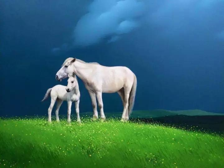 画家笔下的蒙古骏马,栩栩如生 仿佛要从画里跑出来 ... 第2张