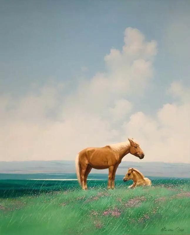 画家笔下的蒙古骏马,栩栩如生 仿佛要从画里跑出来 ... 第6张