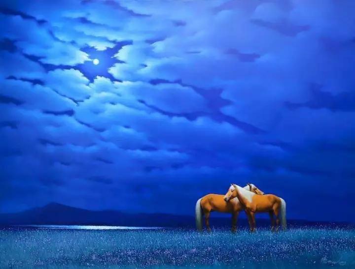 画家笔下的蒙古骏马,栩栩如生 仿佛要从画里跑出来 ... 第10张