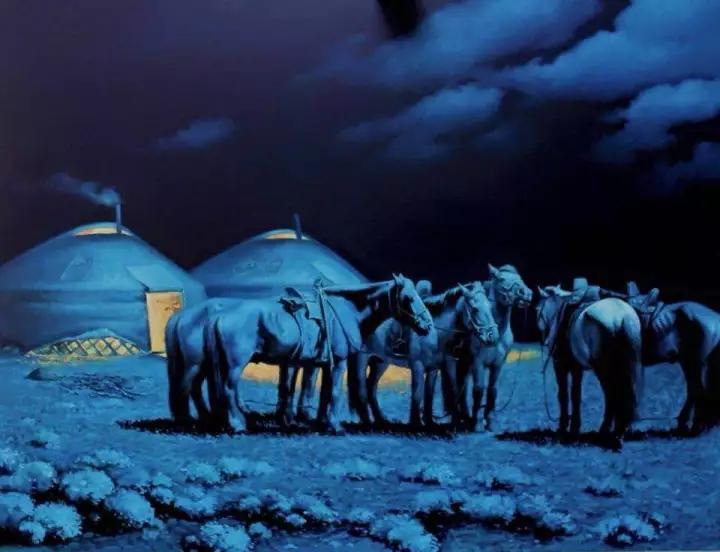画家笔下的蒙古骏马,栩栩如生 仿佛要从画里跑出来 ... 第8张