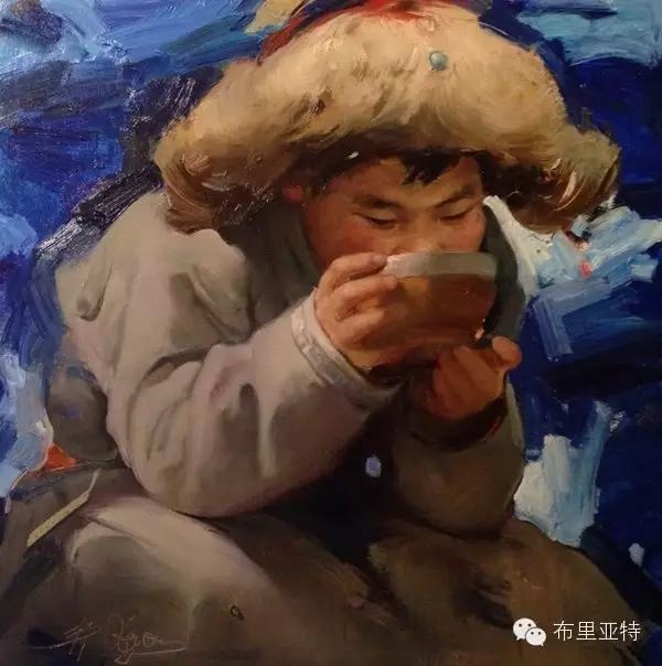 旅俄年轻蒙古画家敖特格·巴达玛作品欣赏 第1张