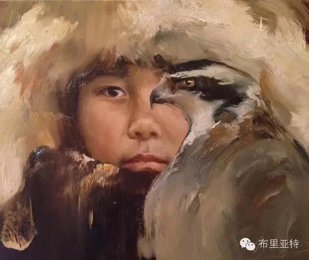 旅俄年轻蒙古画家敖特格·巴达玛作品欣赏 第3张