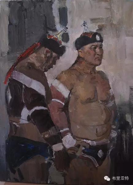 旅俄年轻蒙古画家敖特格·巴达玛作品欣赏 第9张