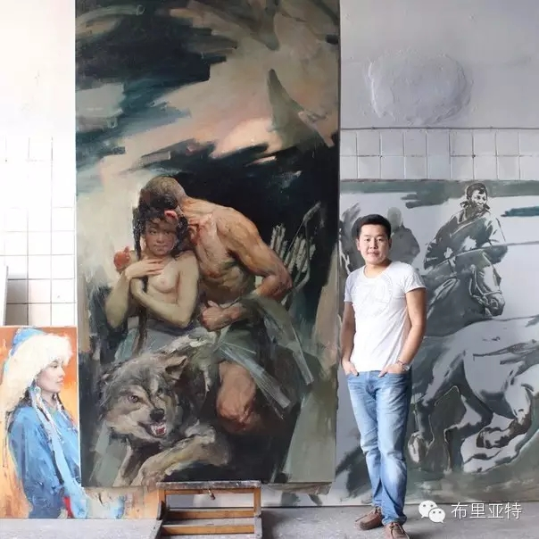 旅俄年轻蒙古画家敖特格·巴达玛作品欣赏 第6张