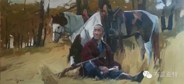 旅俄年轻蒙古画家敖特格·巴达玛作品欣赏 第14张
