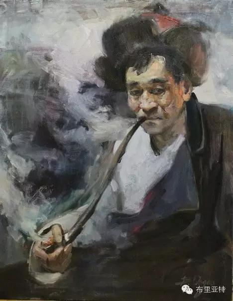 旅俄年轻蒙古画家敖特格·巴达玛作品欣赏 第12张