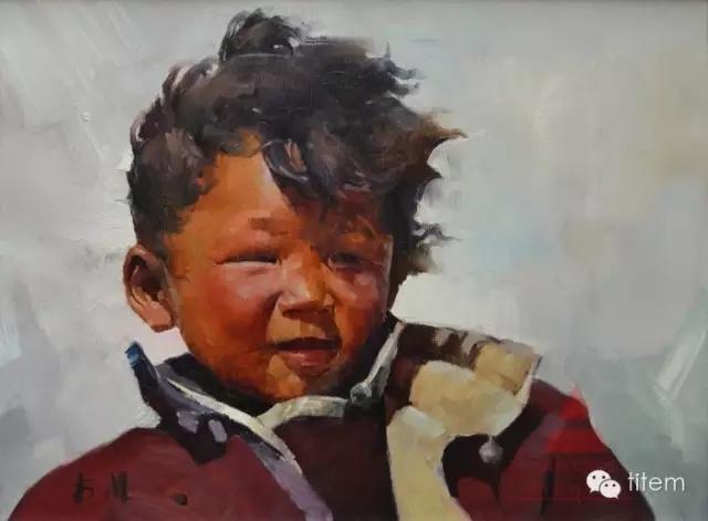 蒙古族画家巴孟和油画作品分享 第2张
