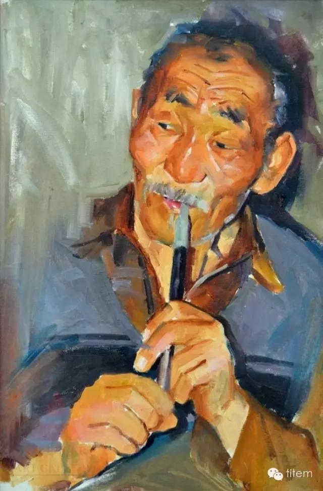 蒙古族画家巴孟和油画作品分享 第1张