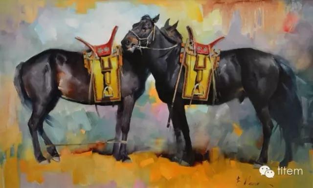 蒙古族画家巴孟和油画作品分享 第3张