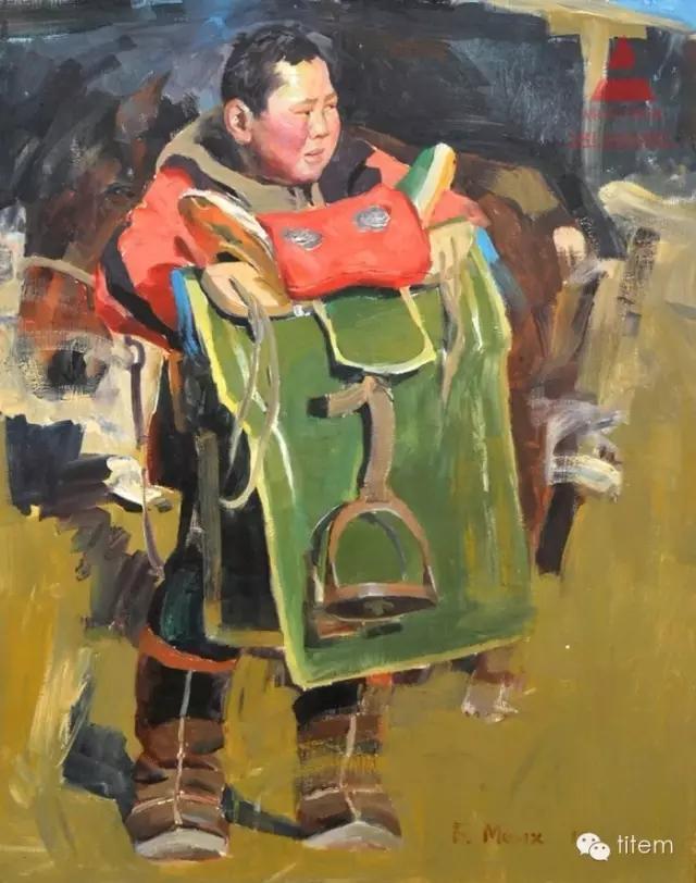 蒙古族画家巴孟和油画作品分享 第7张