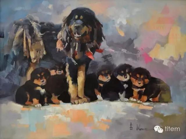 蒙古族画家巴孟和油画作品分享 第11张